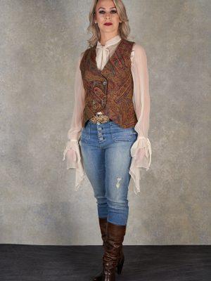 T.ba Classic Jacquard Gypsy Wool Vest