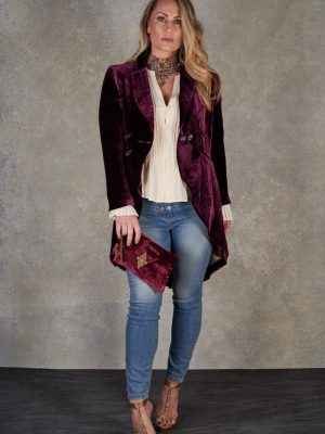 T.ba  Levita Monet Short Plum Coat