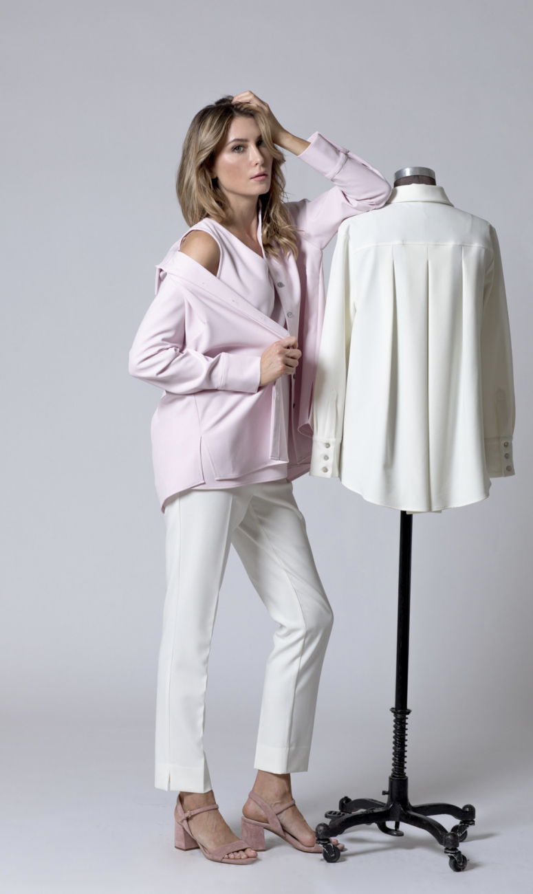 Estelle and Finn Ivory Ankle Pant