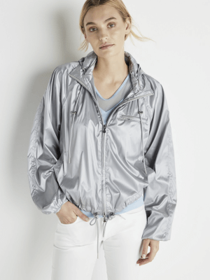 Anatomie Silver Cropped Windbreaker