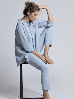 Estelle and Finn Light Blue Ankle Pant